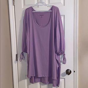 💜Romans Lilac T-shirt Tunic 34/36 4X